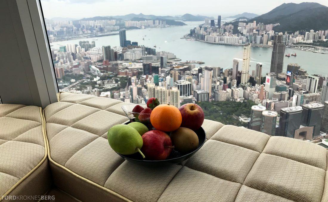 Ritz-Carlton Hong Kong Hotel frukt utsikt