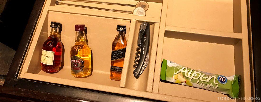 Ritz-Carlton Hong Kong Hotel minibar drink