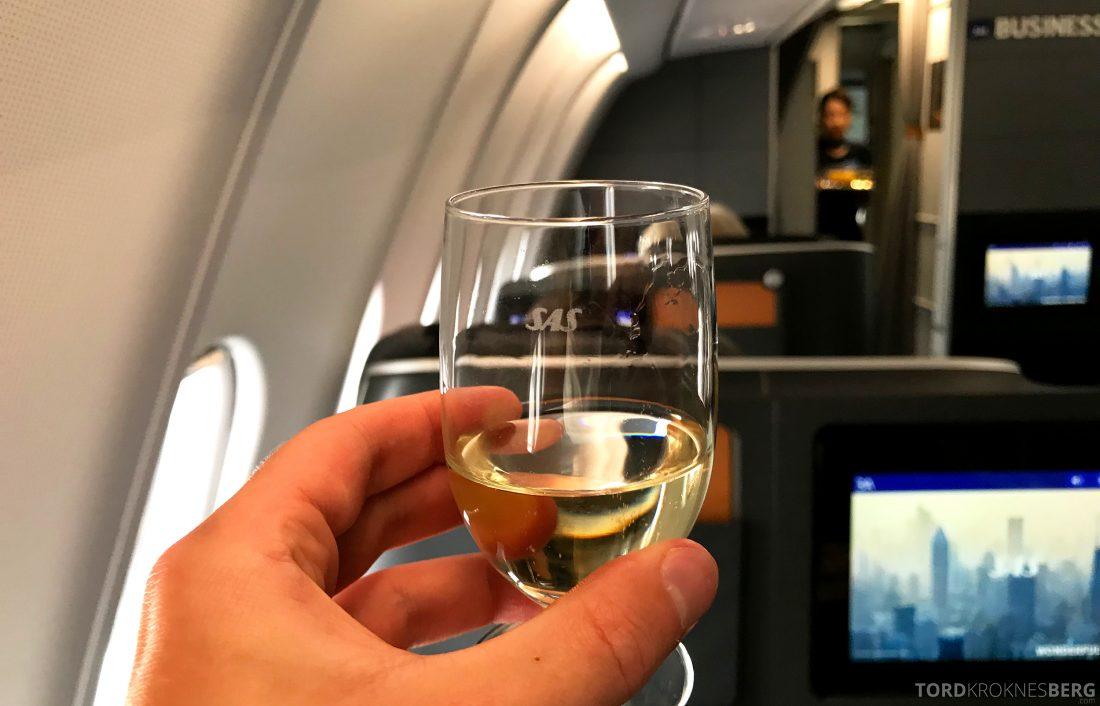 SAS Business Class Oslo Hong Kong velkomstdrink