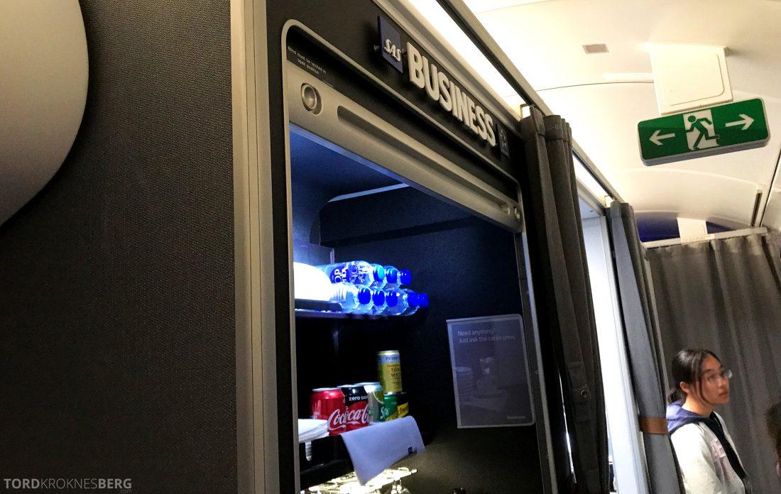 SAS Business Class Oslo Hong Kong snackbar