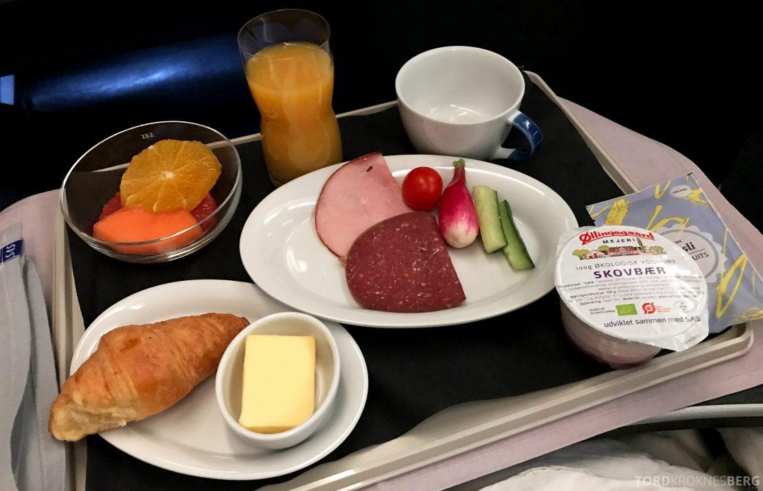 SAS Business Class Oslo Hong Kong frokost