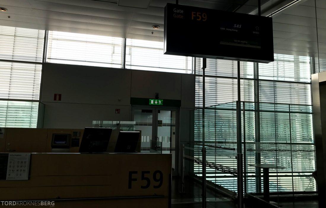 SAS Business Class Oslo Hong Kong ombordstigning