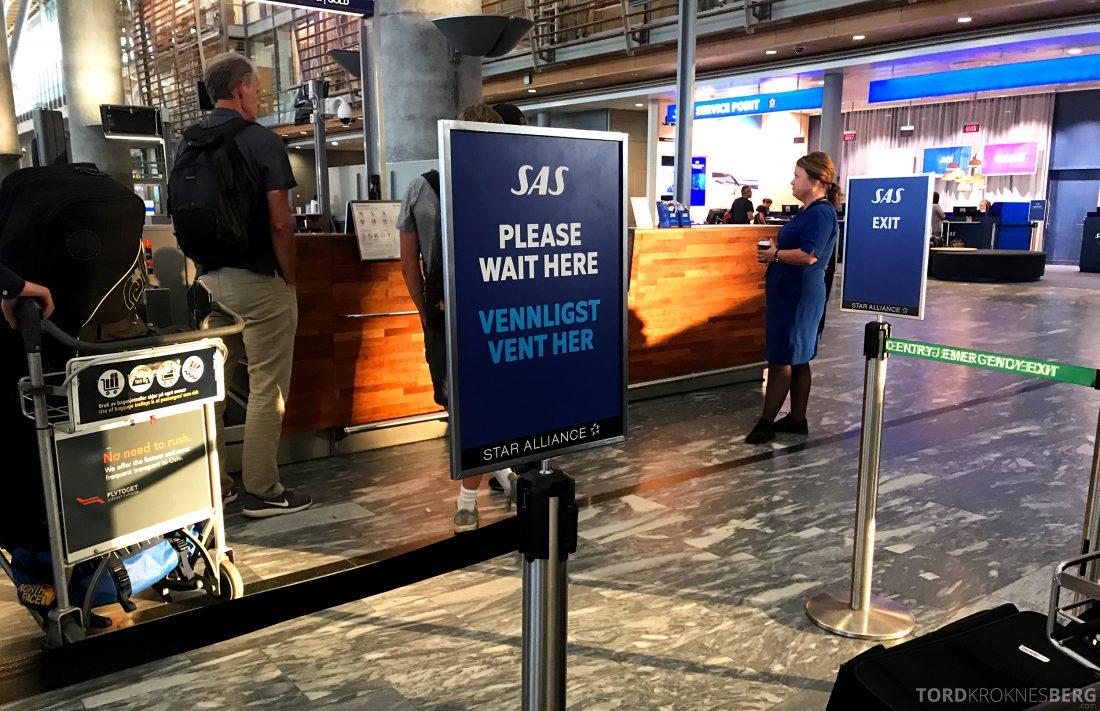 SAS Plus Oslo Berlin business-innsjekk