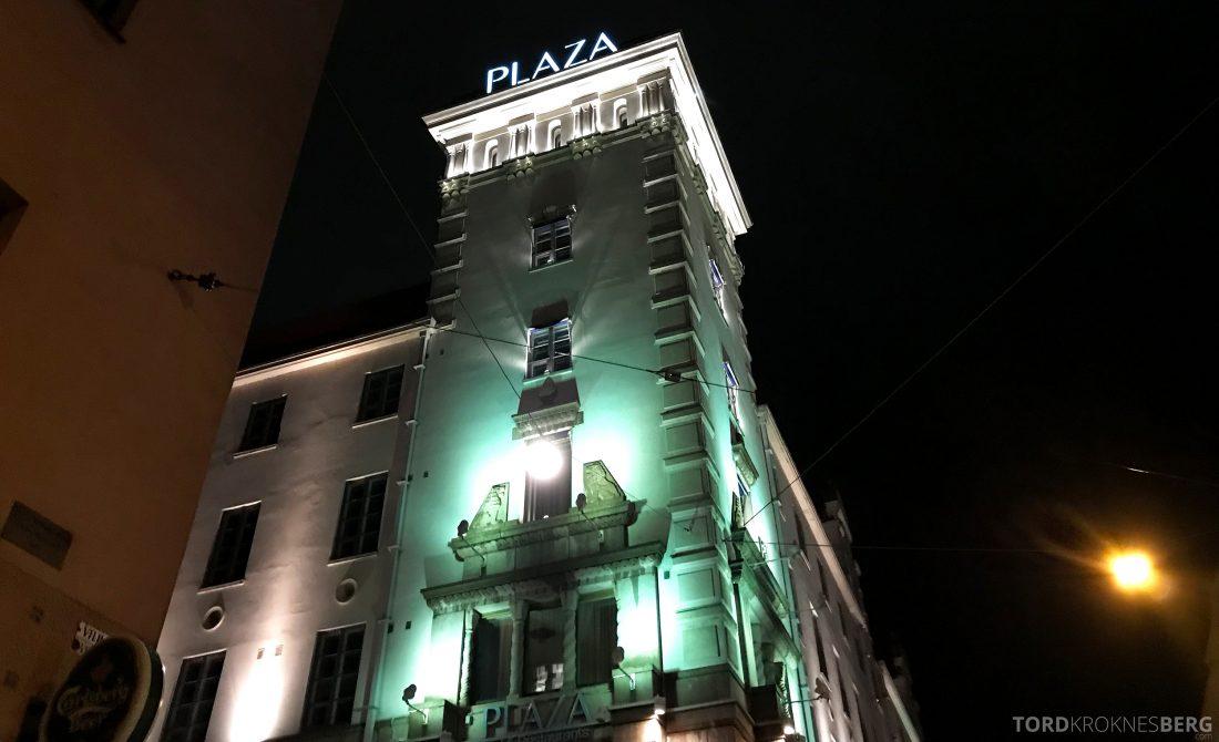 Radisson Blu Plaza Hotel Helsinki fasade natt