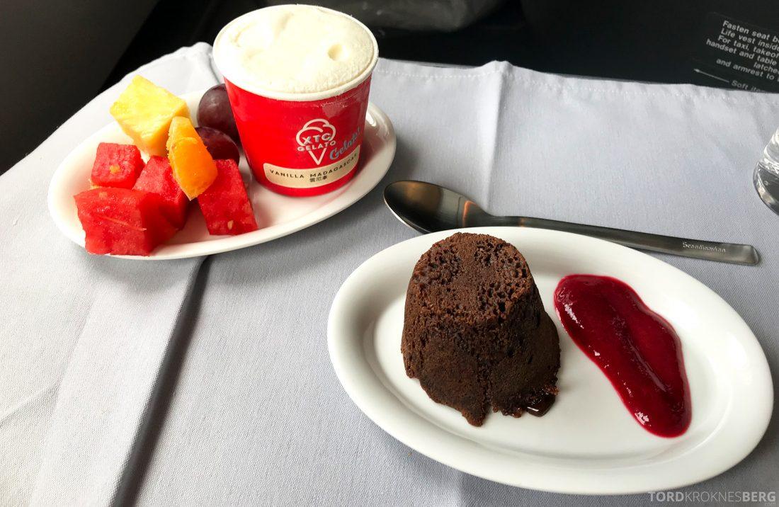 SAS Business Hong Kong Oslo sjokoladefondant