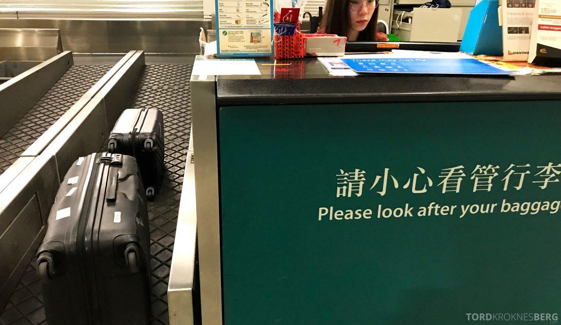 SAS Business Hong Kong Oslo innsjekk skranke