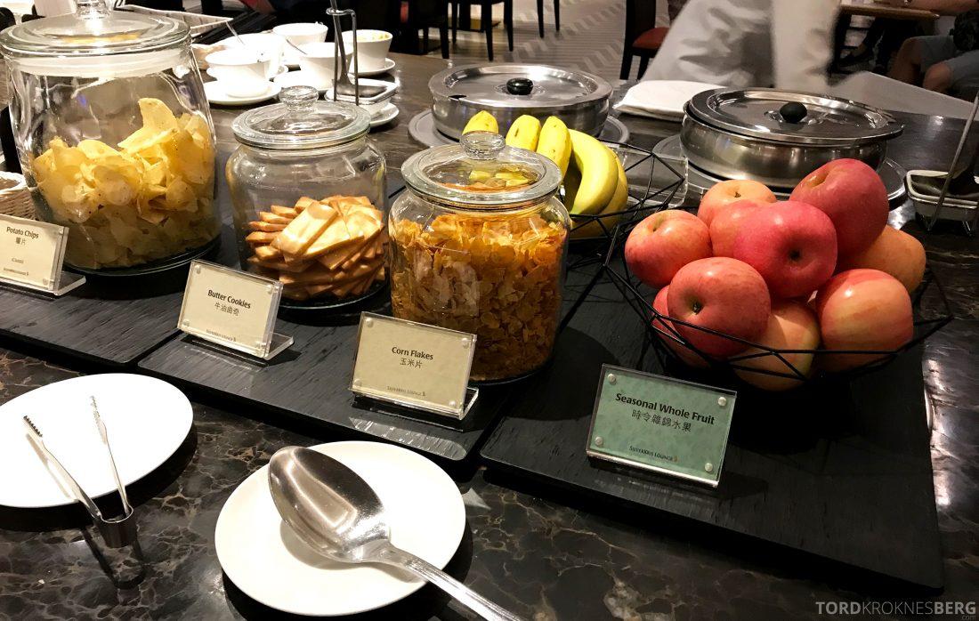 SilverKris Lounge Hong Kong snacks