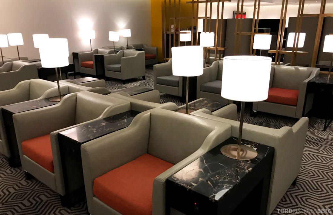 SilverKris Lounge Hong Kong skinnstoler