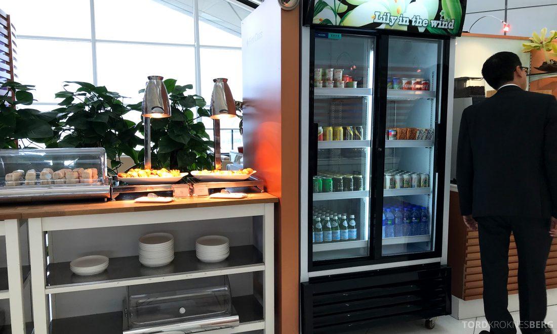 THAI Airways Royal Orchid Lounge Hong Kong brus