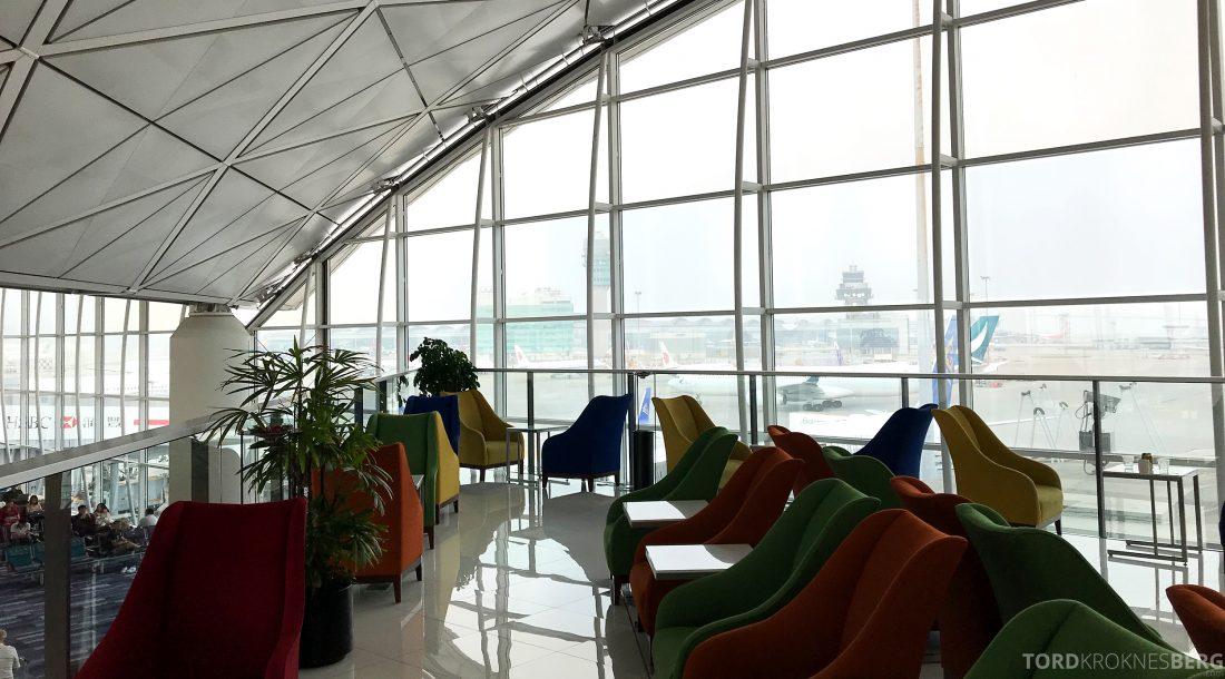 THAI Airways Royal Orchid Lounge Hong Kong utsikt