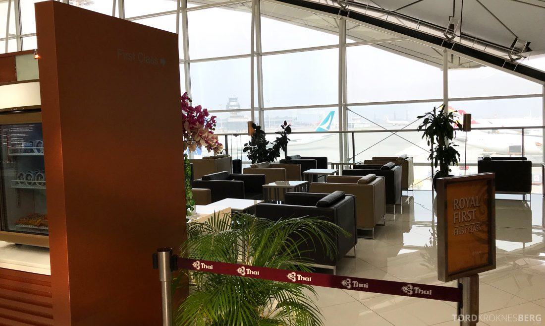 THAI Airways Royal Orchid Lounge Hong Kong First Class