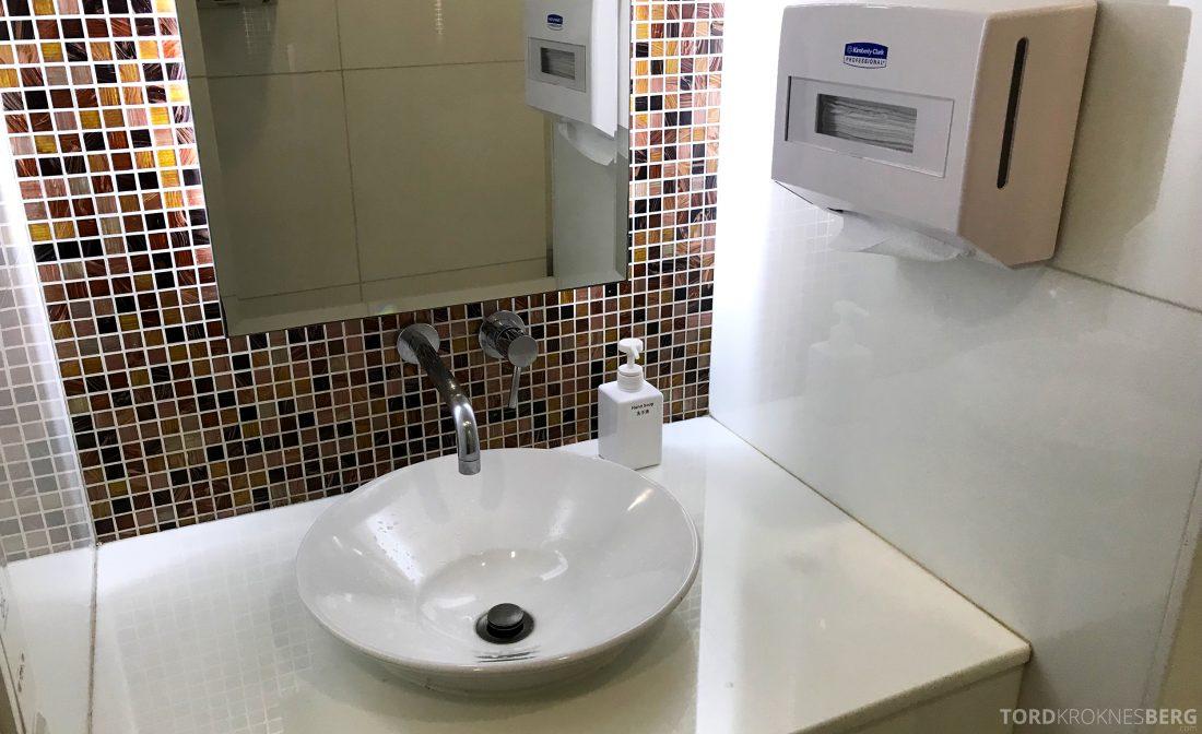THAI Airways Royal Orchid Lounge Hong Kong toalett vask