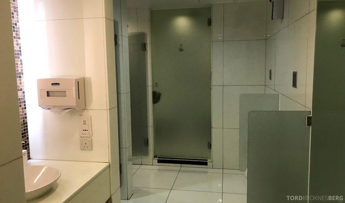 THAI Airways Royal Orchid Lounge Hong Kong toalett