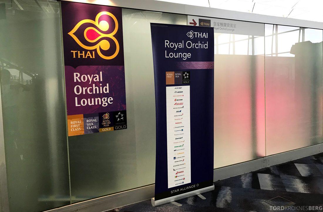 THAI Airways Royal Orchid Lounge Hong Kong adgang