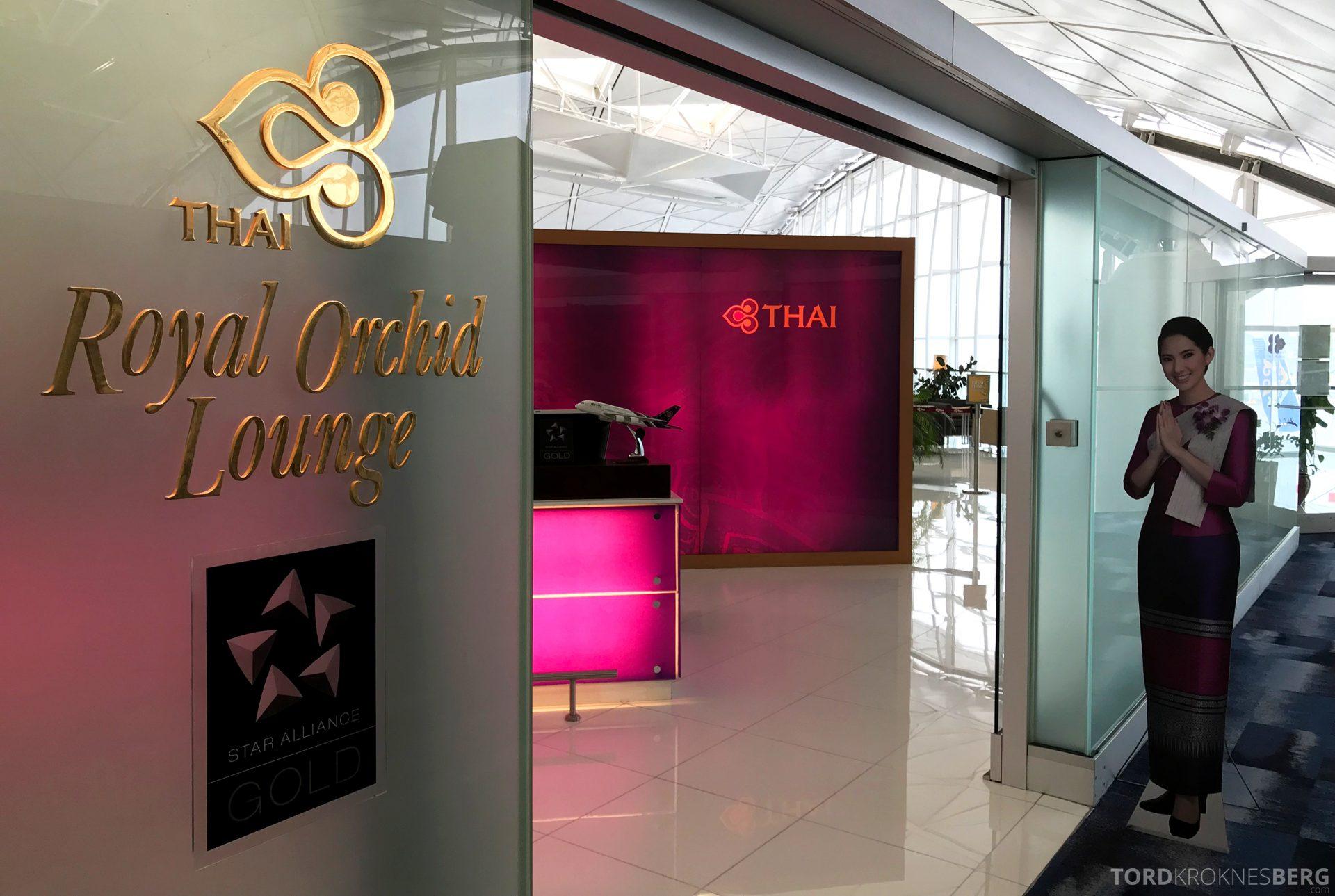 THAI Airways Royal Orchid Lounge Hong Kong inngang