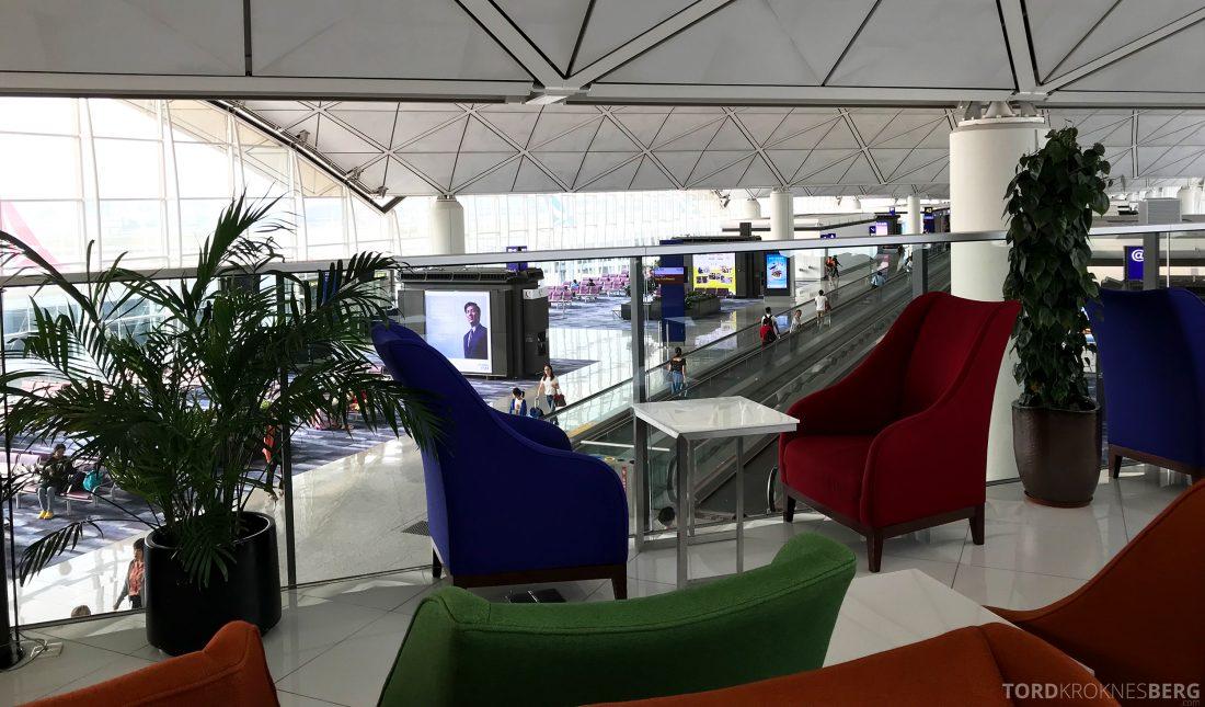 THAI Airways Royal Orchid Lounge Hong Kong utsikt terminal