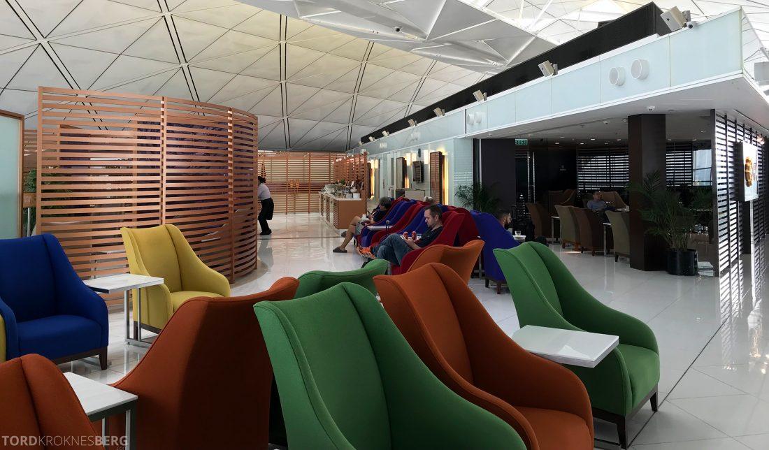 THAI Airways Royal Orchid Lounge Hong Kong stoler