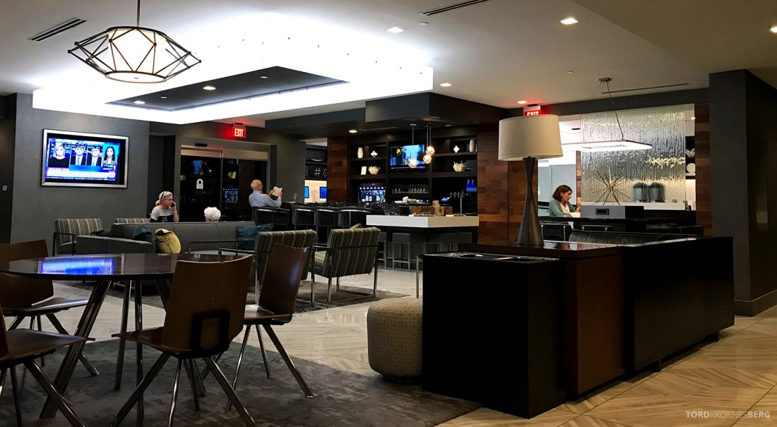 Crystal Gateway Marriott Pentagon Hotel M Club Lounge oversikt