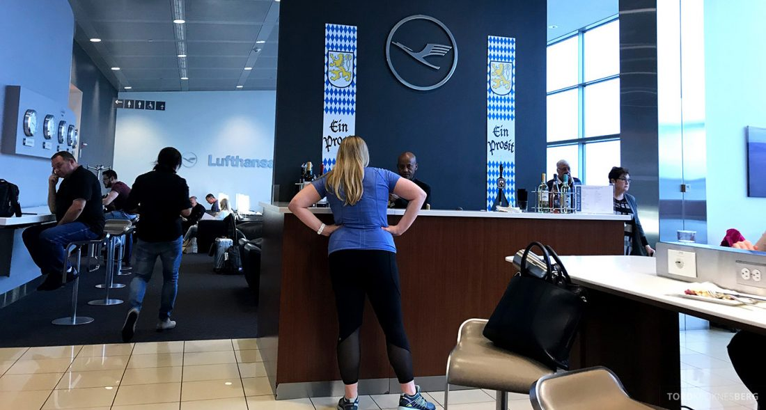 Lufthansa Senator Lounge Washington oversikt