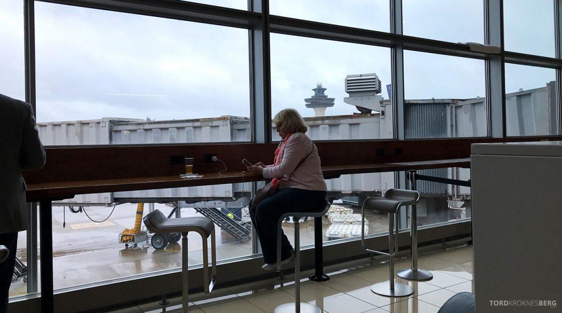 Lufthansa Senator Lounge Washington utsikt