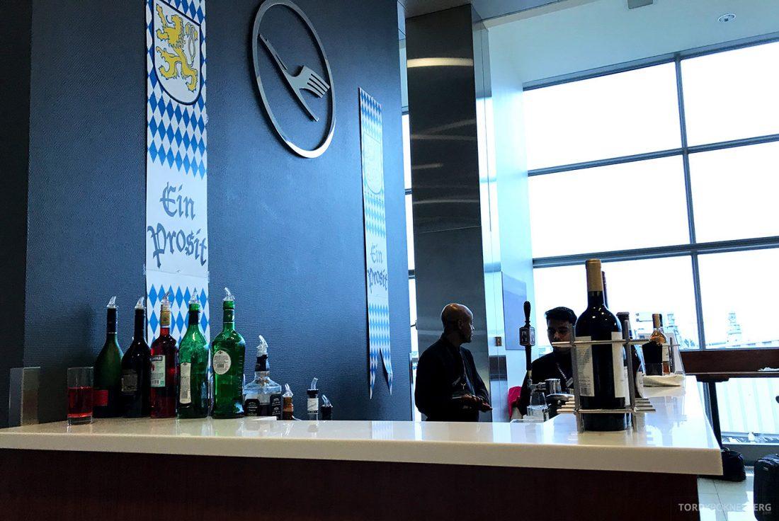 Lufthansa Senator Lounge Washington bar