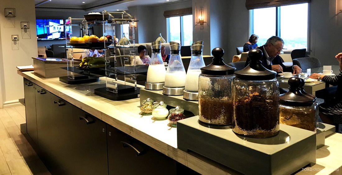 Ritz-Carlton Pentagon City Hotel Club Lounge frokostbuffet