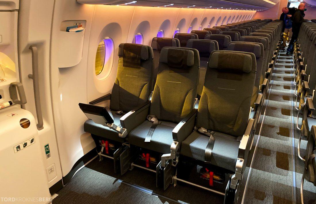 SAS A350 Oslo Go nødutgang