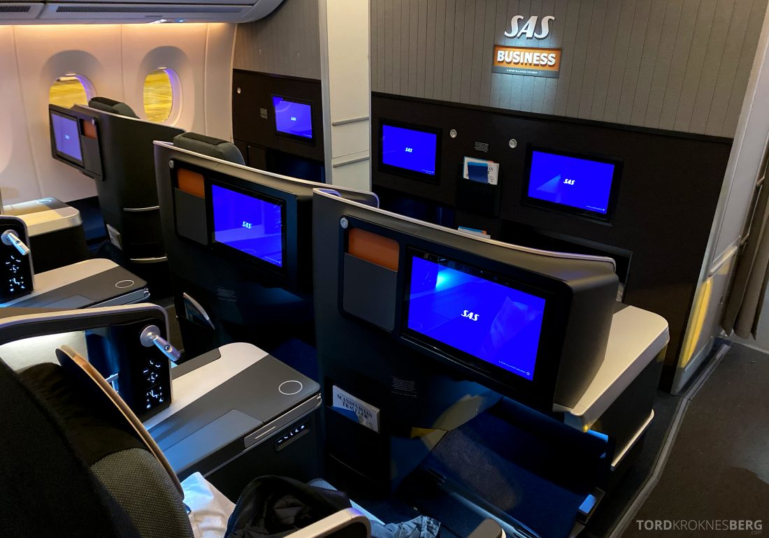 SAS A350 Oslo business kabin bakerst