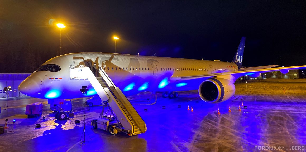 SAS A350 Oslo fly