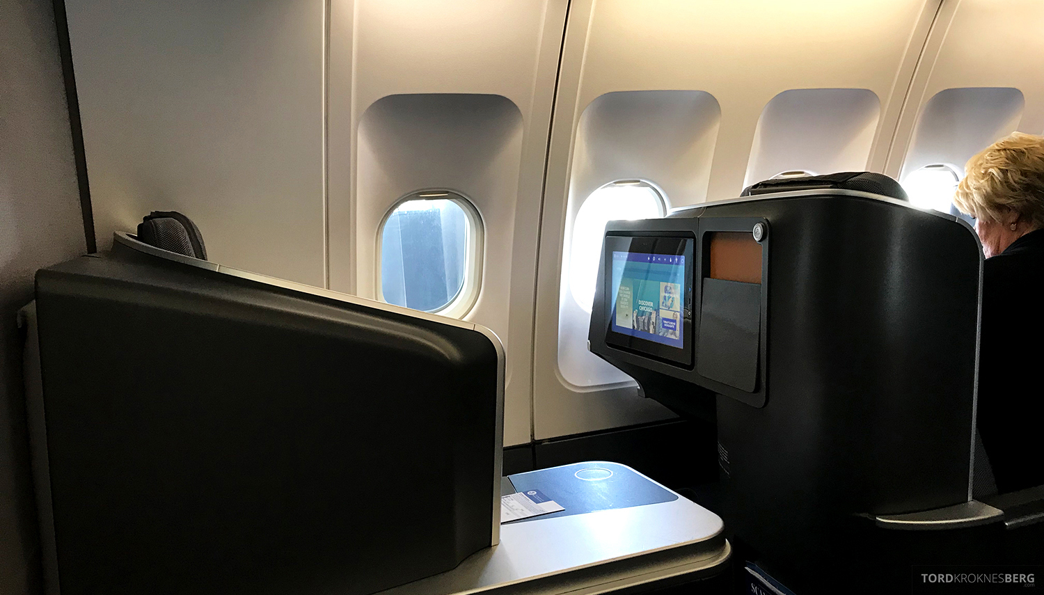 SAS Business Class Oslo Washington sete