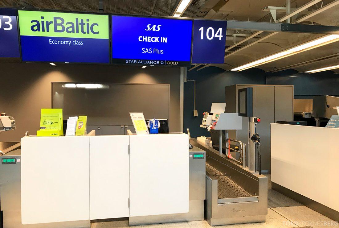 SAS Go JetTime Helsinki Oslo innsjekk