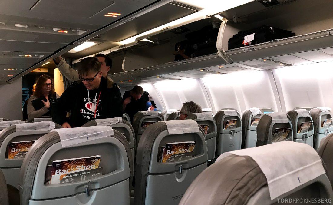 SAS Go JetTime Helsinki Oslo kabin