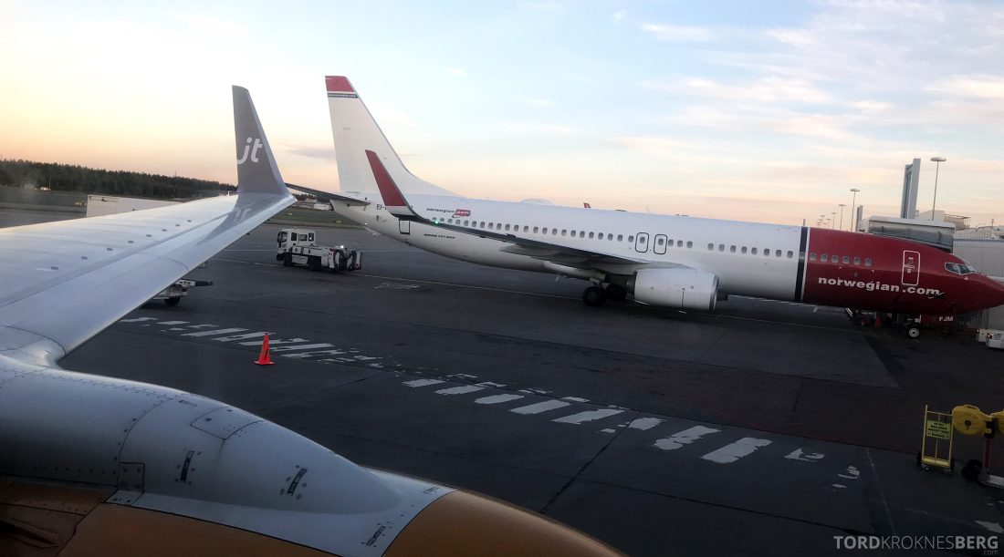SAS Go JetTime Helsinki Oslo vinge