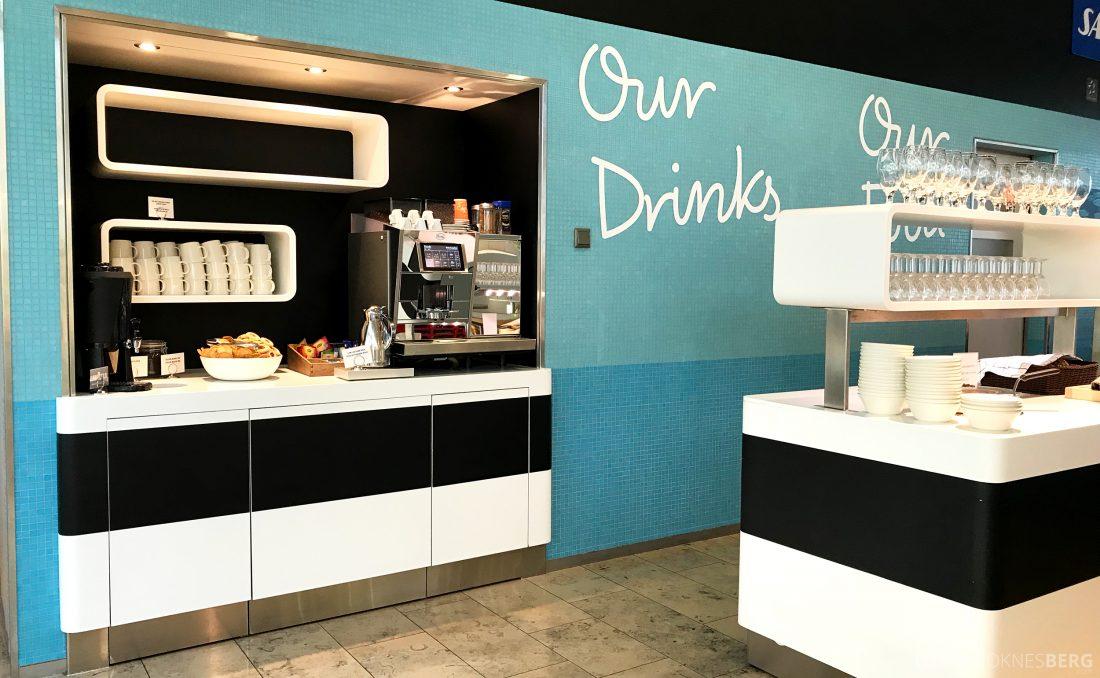 SAS Lounge Helsinki drikke
