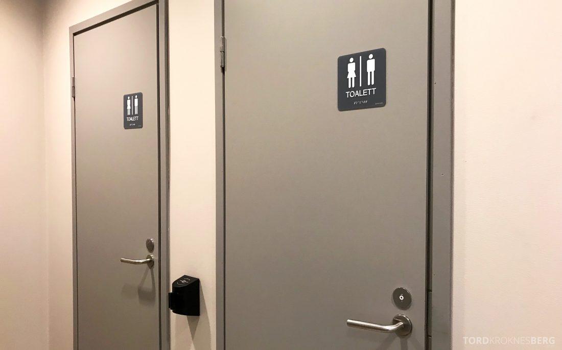 SAS Lounge Helsinki toalett dør