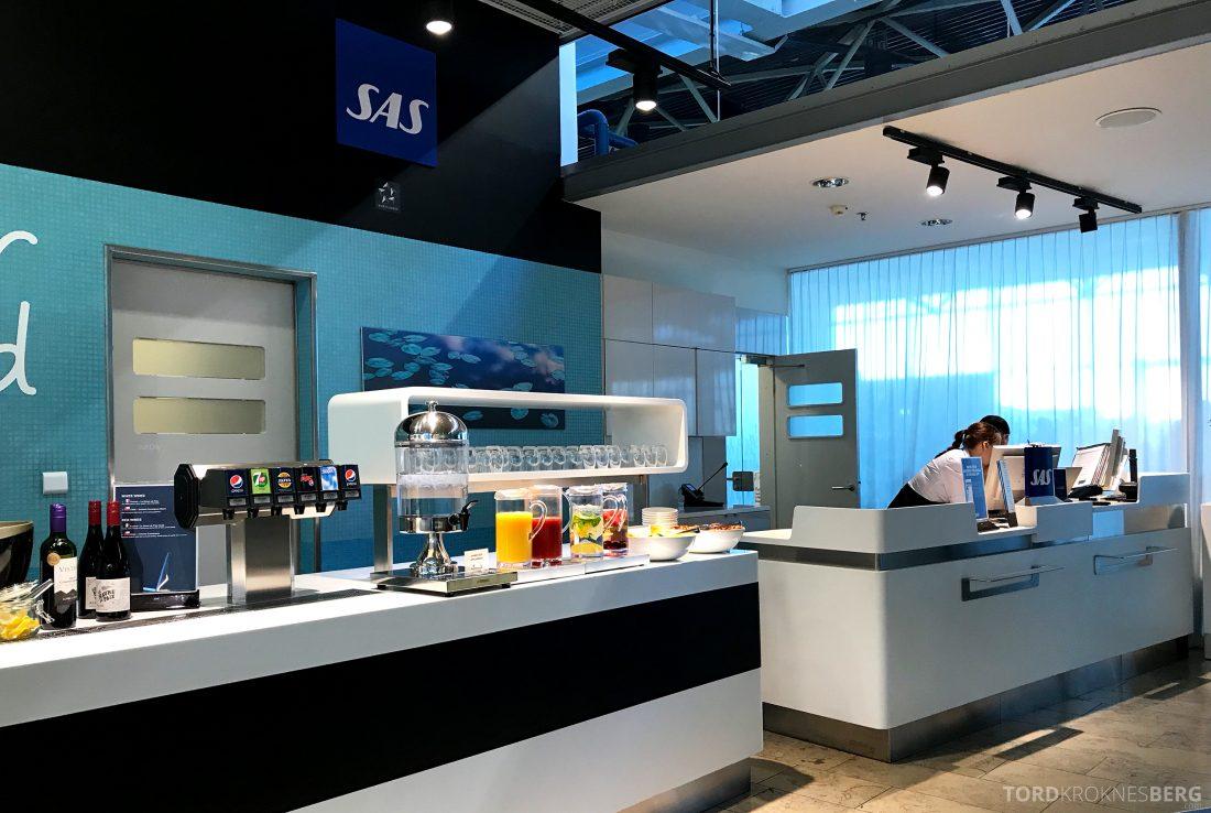 SAS Lounge Helsinki resepsjonen