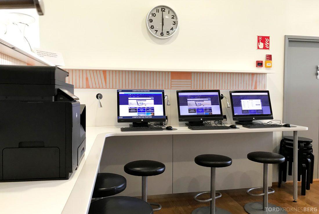 SAS Lounge Helsinki datakrok
