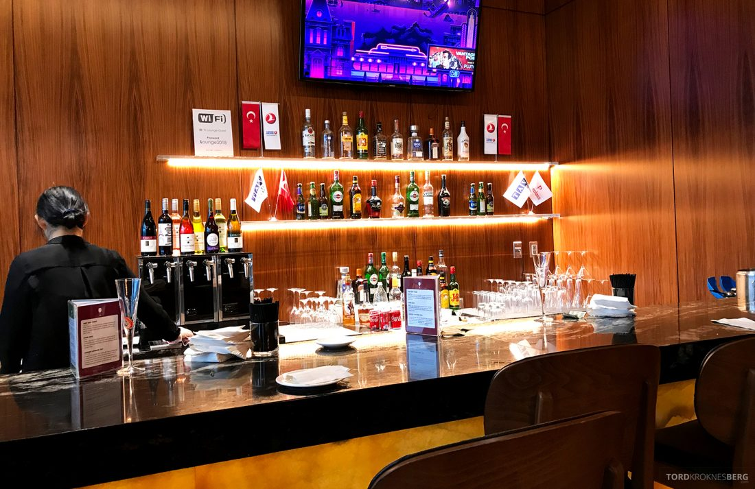 Turkish Airlines Lounge Washington betjent bar