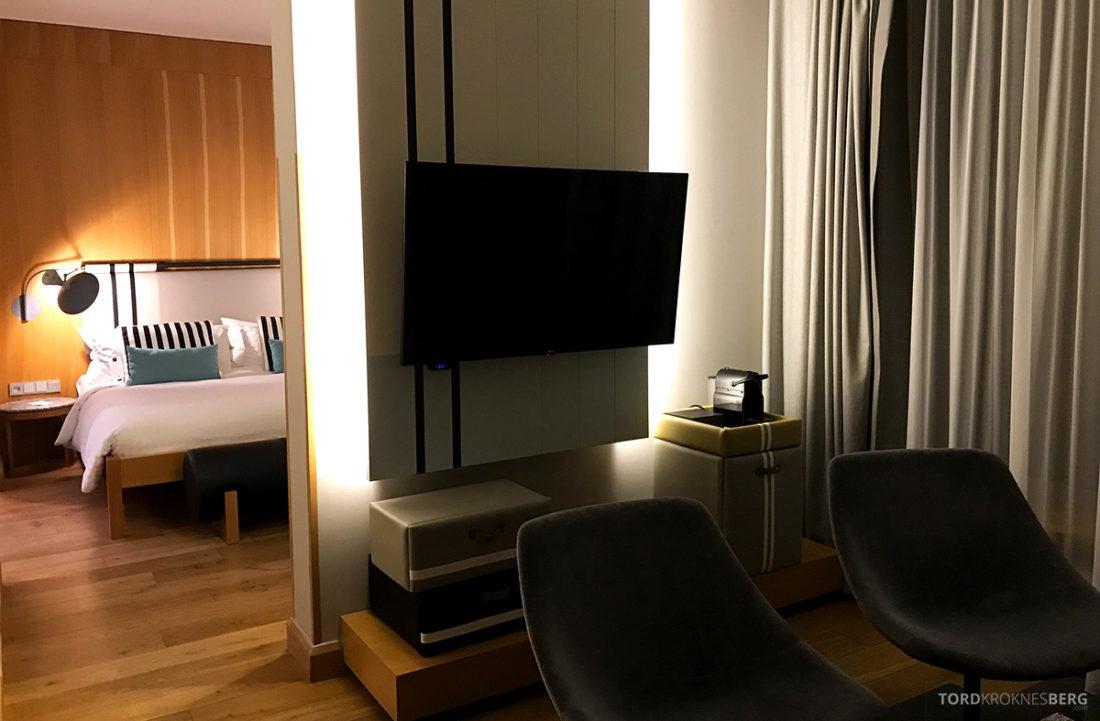 Marriott Hotel Sopot stue og soveværelse