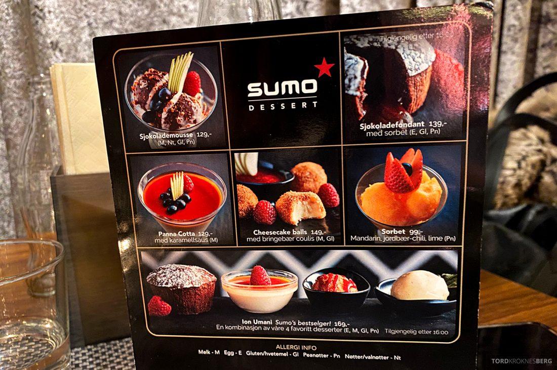 Restaurant Sumo Oslo desserter