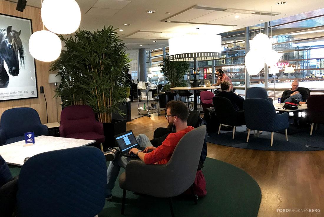 SAS Lounge International Oslo Gardermoen sitteplasser