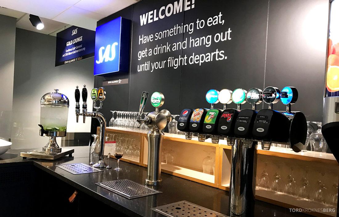 SAS Lounge International Oslo Gardermoen brus øl