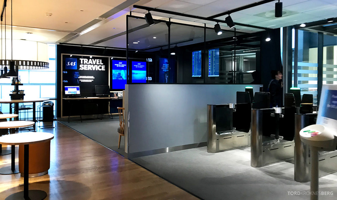 SAS Lounge International Oslo Gardermoen resepsjon