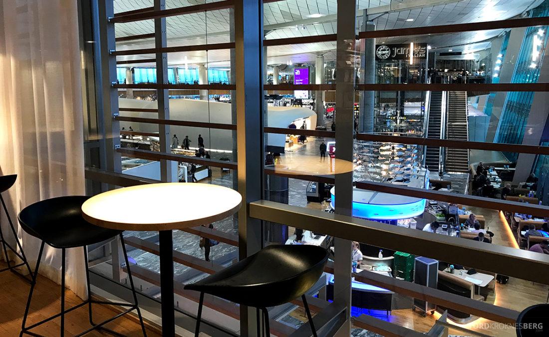 SAS Lounge International Oslo Gardermoen utsikt