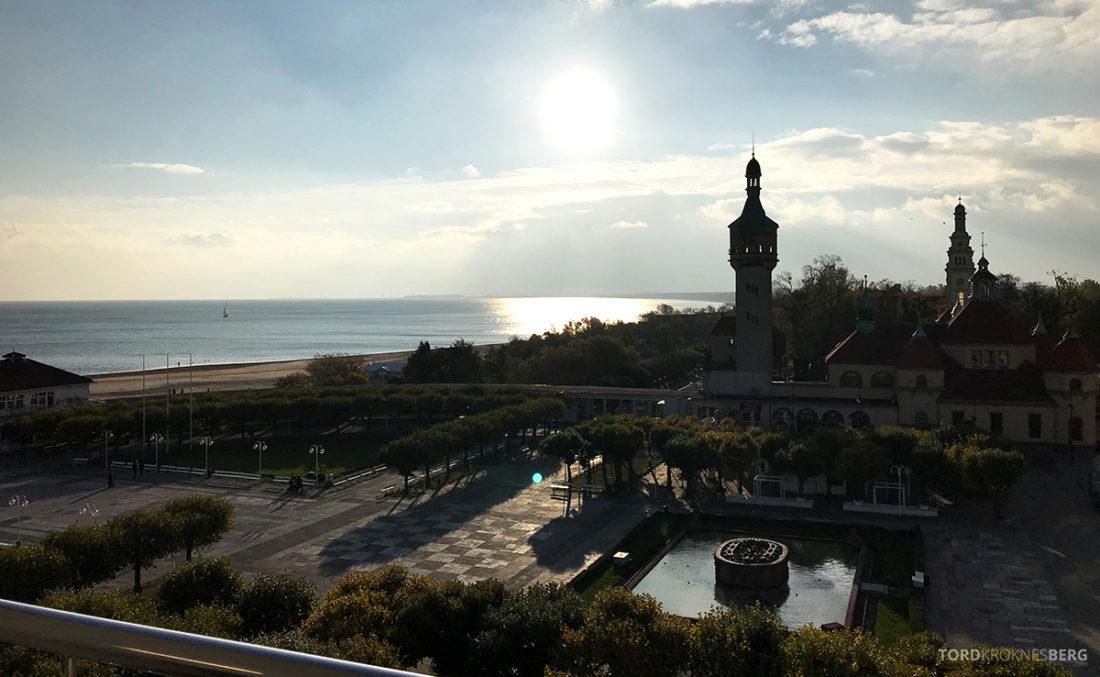 Sheraton Hotel Sopot utsikt morgen