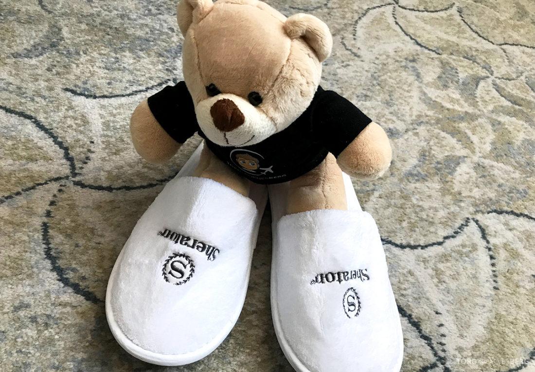 Sheraton Hotel Sopot reisefølget slippers