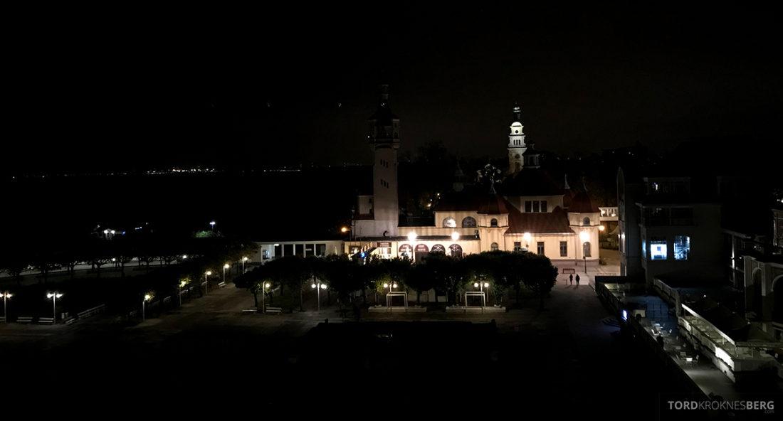Sheraton Hotel Sopot utsikt kveld