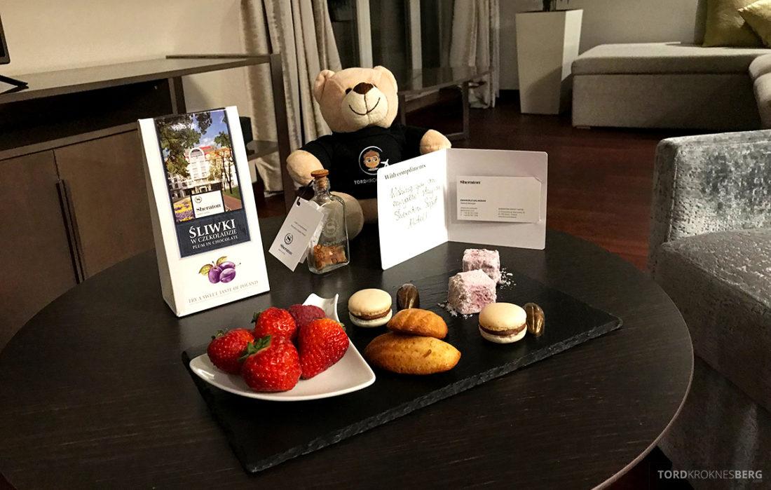 Sheraton Hotel Sopot velkomstgave