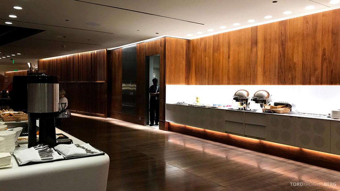 Oryx Business Lounge Doha buffetområde