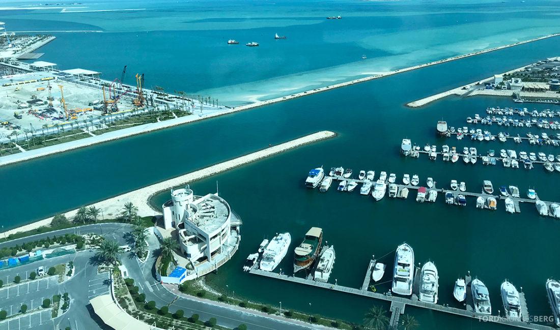 Ritz-Carlton Doha Club Lounge utsikt